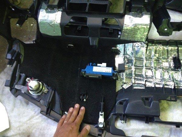 Звукоизоляция Передней панели Камри 40