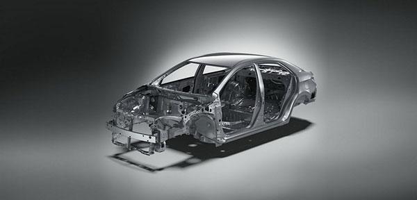 Cтруктура кузова Corolla 180