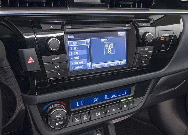 Центральная панель Corolla