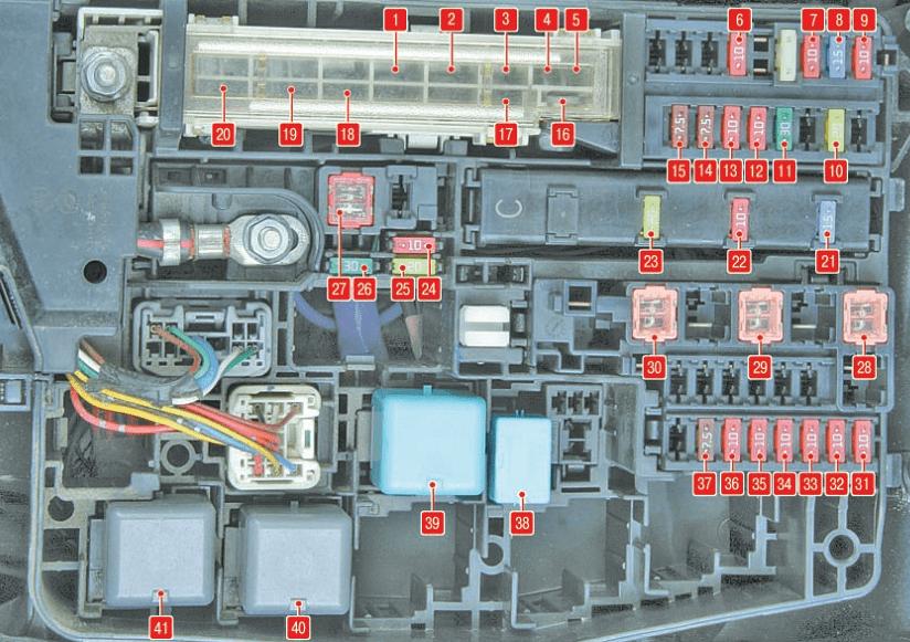 Блок предохранителей под капотом Corolla 150