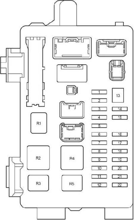 Схема блока предохранителей в салоне Авенсис 250