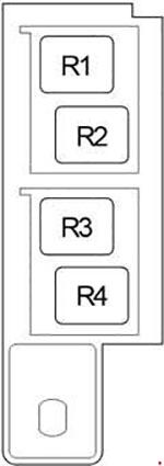 Схема блока реле в салоне Авенсис 270