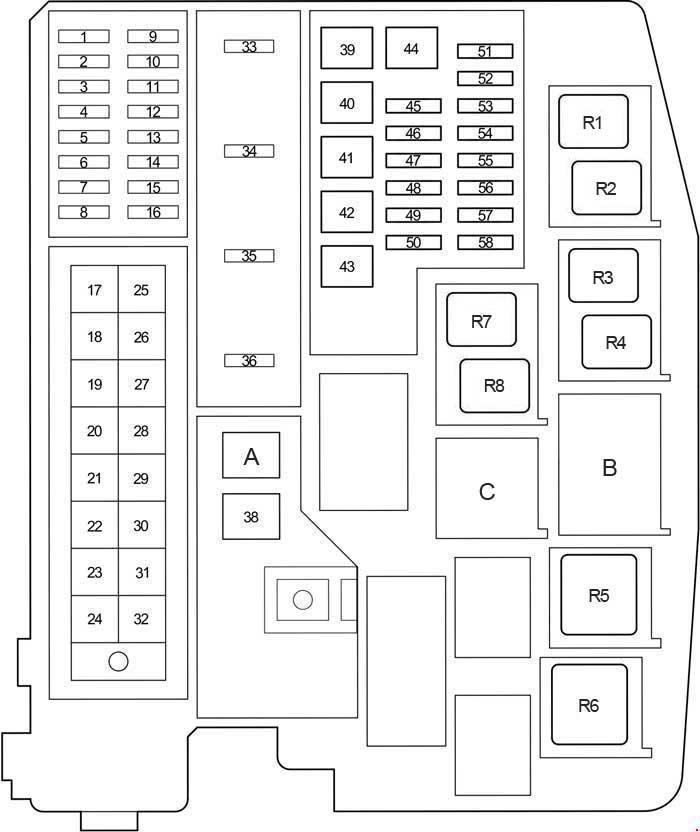 Схема блока предохранителей под капотом Авенсис 270