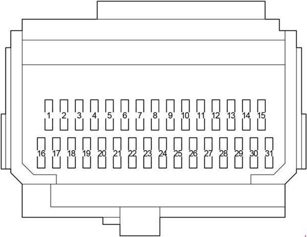 Схема блока предохранителей в салоне Авенсис 270