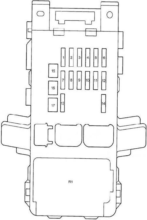Схема салонного блока предохранителей Авенсис 220