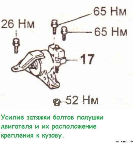 Подушка двигателя 4A-FE