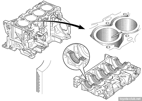 Блок цилиндров 2AD