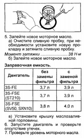 Замена масла в 3S-FE