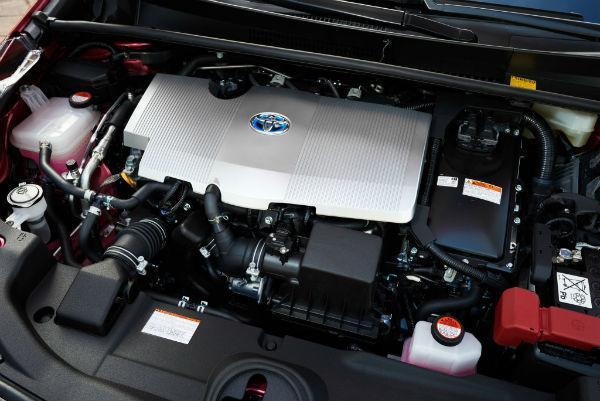 Prius 50 моторный отсек