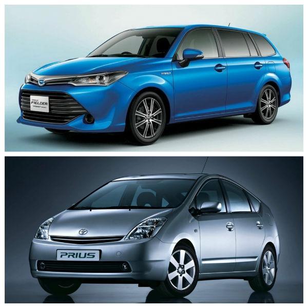 Toyota Corolla Fielder и Toyota Prius