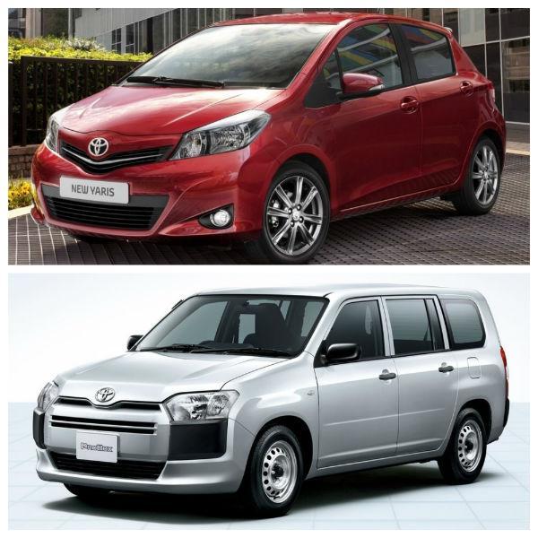 Toyota Yaris и Probox