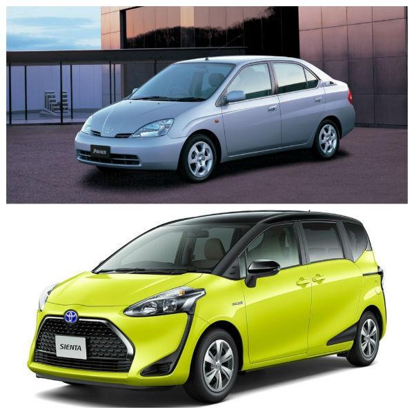 Toyota Prius и Toyota Sienta