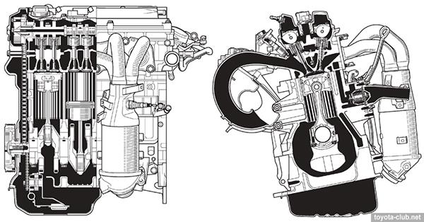 двигатель Тойота 1AZ-FE/FSE 2.0