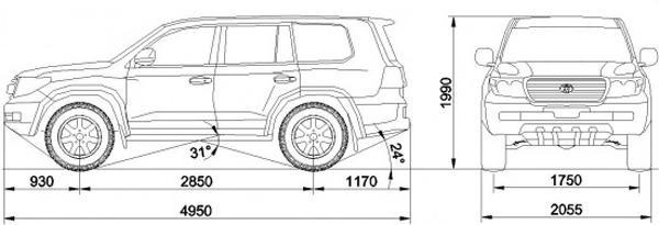 Технические характеристики Toyota Land Cruiser 200 AT33