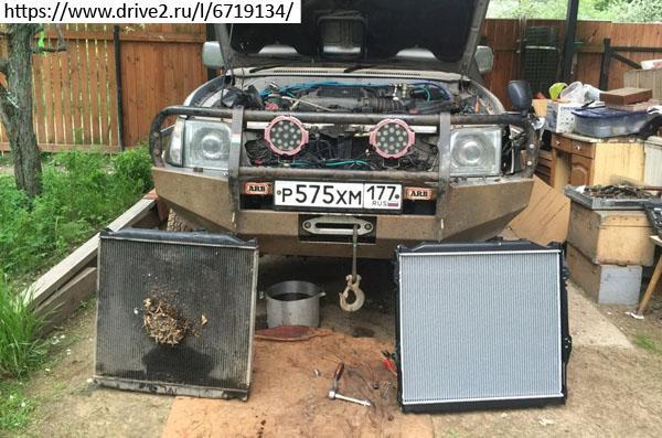Радиатор двигателя 1KZ-TE