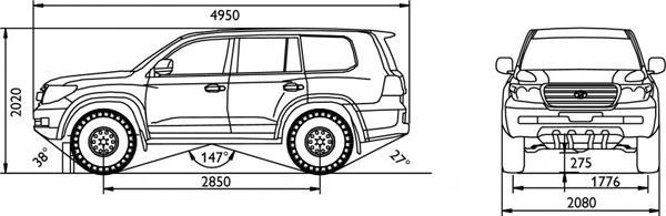Технические характеристики Toyota Land Cruiser 200 AT35