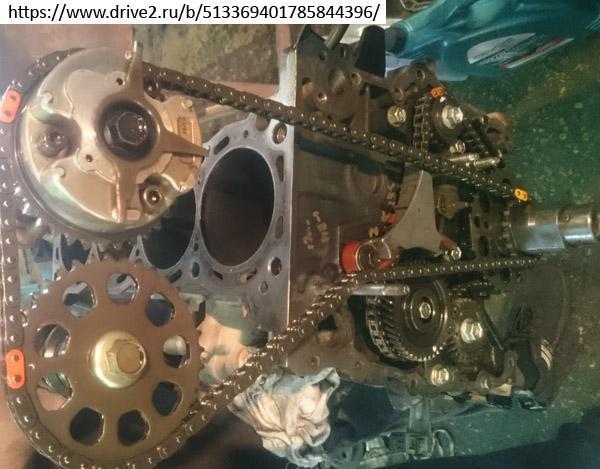 Цепной привод ГРМ двигателя 2TR-FE