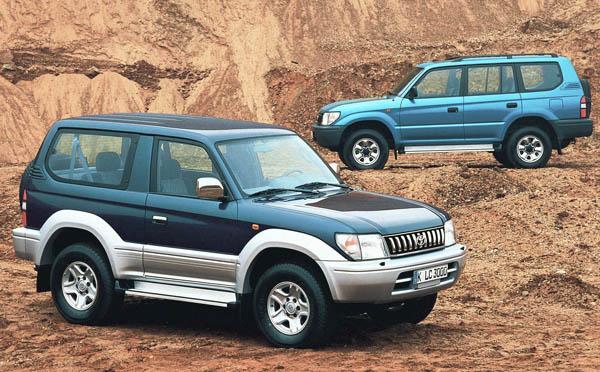 Прадо 95 – пятидверный кузов, а Prado 90 – трехдверный.
