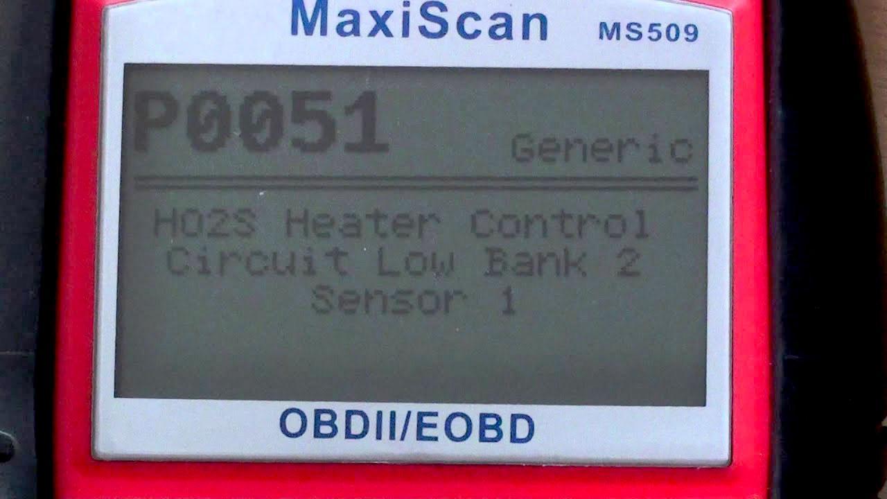 Ошибка P0051: неисправность кислородного датчика