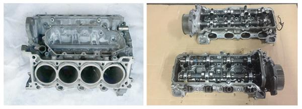 Чугунный блок и алюминиевая ГБЦ двигателя 2UZ