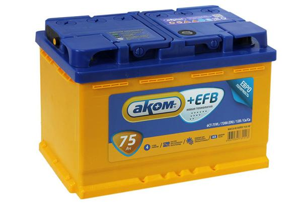 АКБ на Prado 120 4 литрас технологией EFB