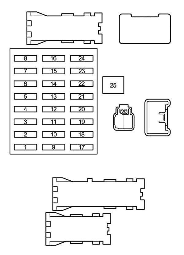 Схема блока предохранителей в салоне Прадо 120