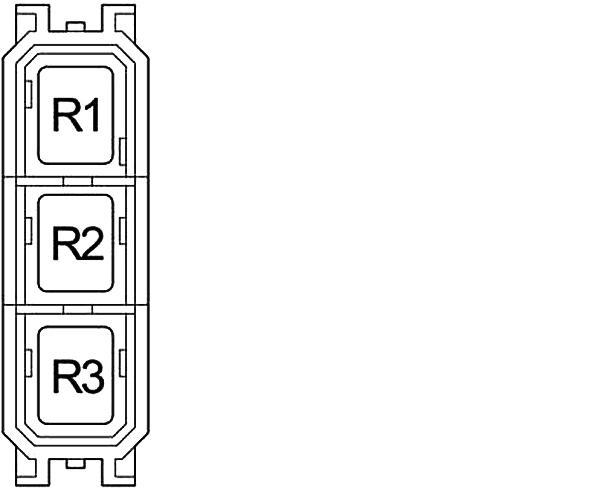 Схема блока реле в салоне Land Cruiser Prado 120