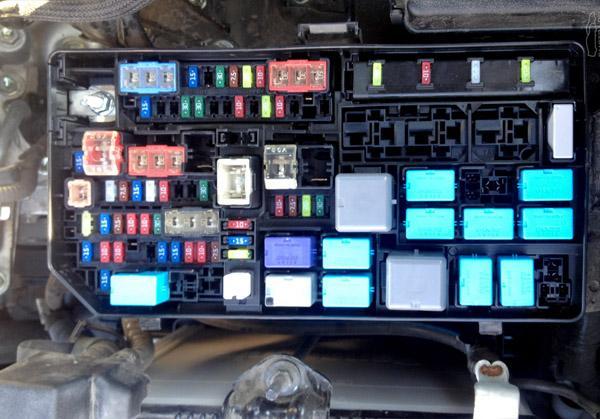 Блок предохранителей в моторном отсеке LC Prado 150