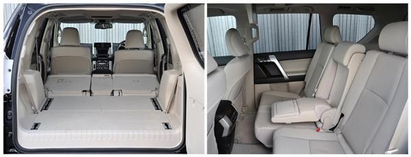 Второй ряд сидений Land Cruiser Prado 150