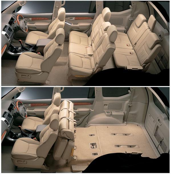 Салон 5-дверного Land Cruiser Prado 120