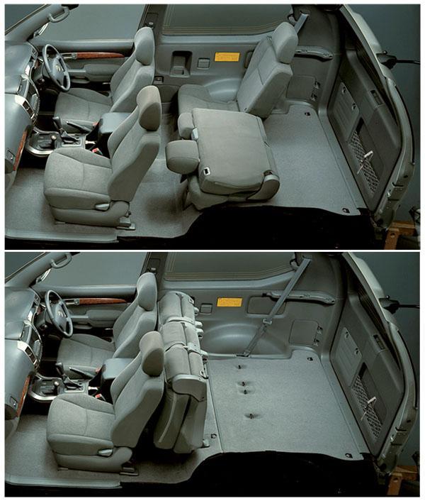 Салон 3-дверного Land Cruiser Prado 120