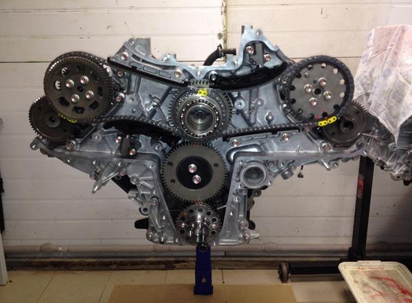 Две цепи ГРМ двигателя 1VD-FTV