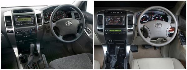 Передняя панель, комплектация GX и VX Land Cruiser Prado 120