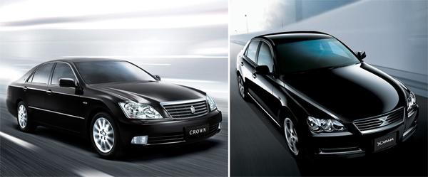 Toyota Crown S180 (слева) и Toyota Mark X X120 (справа)
