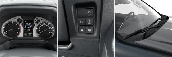 1. Цветной дисплей на панели приборов TFT 4.2''; 2. Руль, лобовое стекло с электроподогревом; 3. Форсунки стеклоомывателя с электроподогревом (слева направо)