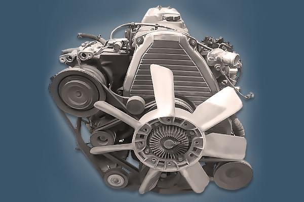 Дизельныйдвигатель Toyota 5L.