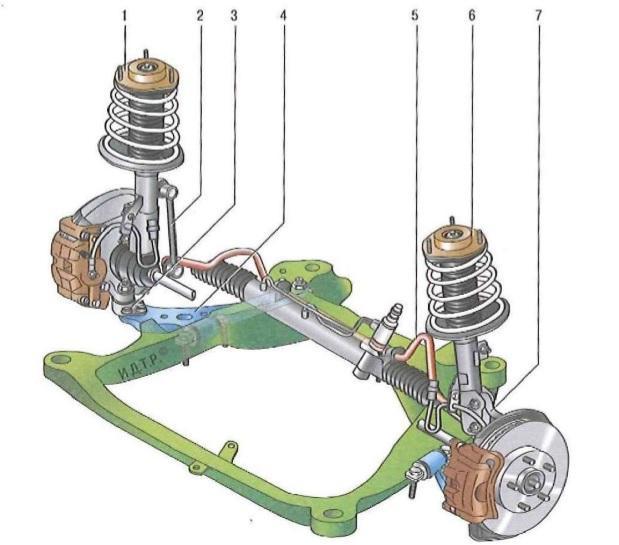 Схема подвески Toyota Камри